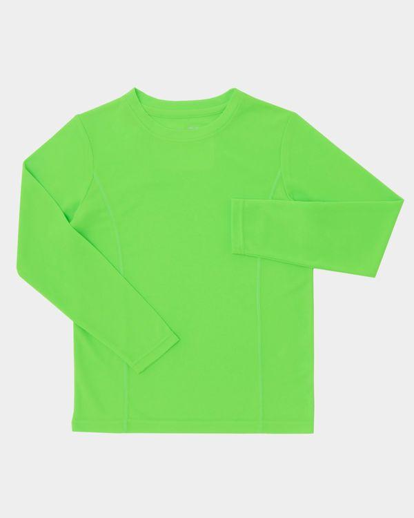 Boys Long-Sleeved Plain Poly Top (3-14 years)