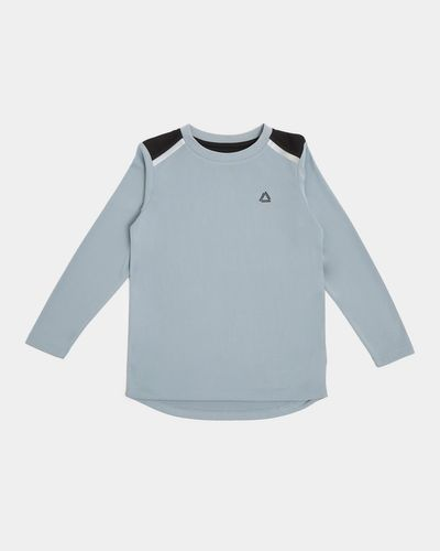 Sports Long-Sleeved Poly Top (4-14 years)