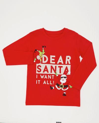 Christmas Slogan Top (3-14 years)