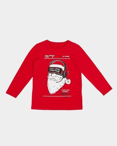 Santa Long-Sleeved Top (3-14 years)