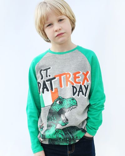 Boys St Patrick's T-Rex Top (2-8 years)