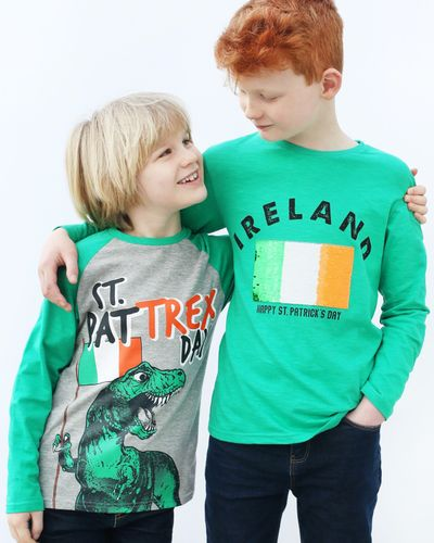 Boys St. Patrick's Sequin Flag T-Shirt (2-14 years)