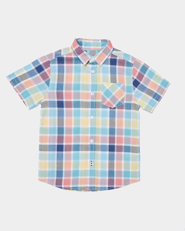 Boys Short-Sleeved Check Shirt (3-13 years)