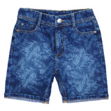 blue Boys Printed Shorts