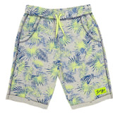 grey-marl Boys Contrast Print Shorts