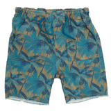 green Boys Woven Printed Shorts