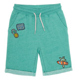green Boys Badge Fleece Shorts