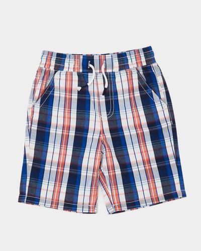 Boys Check Pull Up Shorts (3-10 years) thumbnail