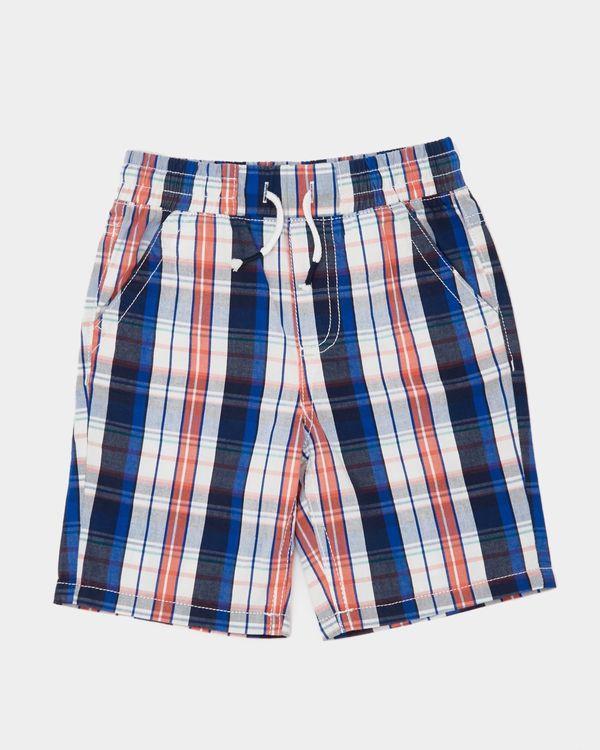Boys Check Pull Up Shorts (3-10 years)