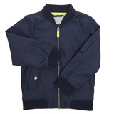 navy Younger Boys Bomber Jacket