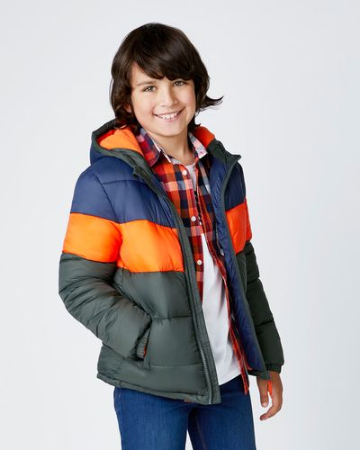 Boys Cut And Sew Padded Jacket (3-13 years)
