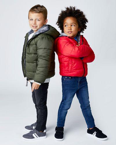 Boys Padded Faux Fur Jacket (3-14 years)