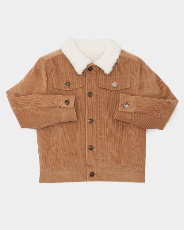 Boys Borg Lined Cord Jacket (2-8 years)