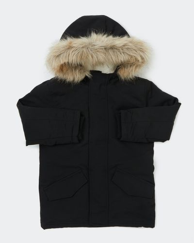 Boys Faux Fur Lined Parka Jacket (2-9 years)
