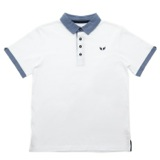 white Older Boys Chabray Polo Shirt