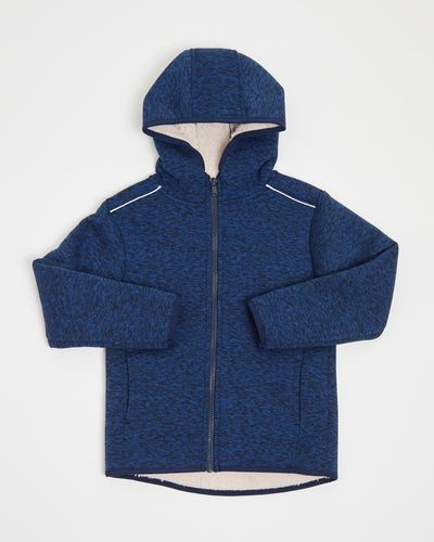 Boys Marl Hooded Jacket (3-14 years)