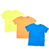 burnt-orange Boys Plain T-Shirts - Pack Of 3