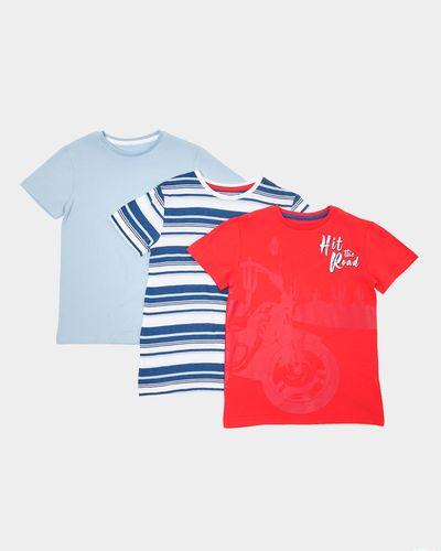 Boys Print T-Shirt - Pack Of 3 (3-10 Years)