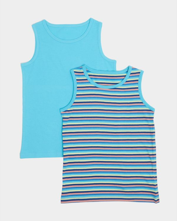Boys Vest - Pack Of 2 (3-13 years)