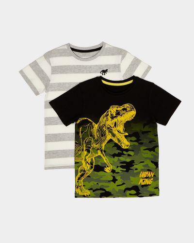 Print T-Shirt - Pack Of 2 (2-14 years)