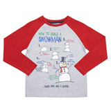 red Younger Boys How To Build A Snowman Long-Sleeved Top
