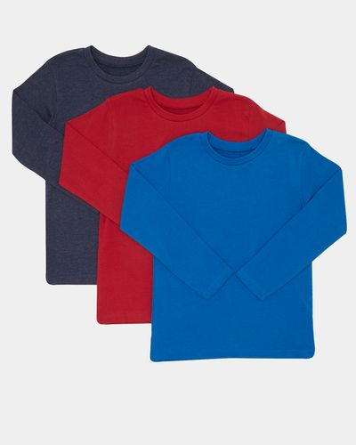 Boys Plain Long-Sleeved Top - Pack Of 3 (3-14 years) thumbnail