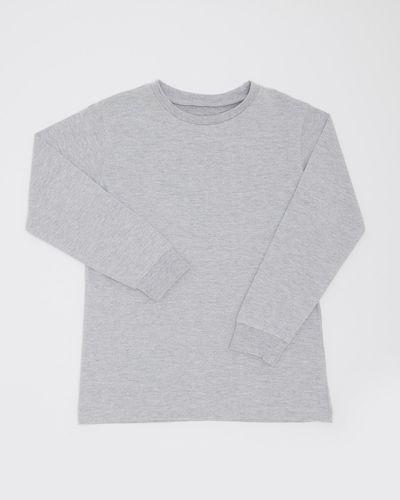 Boys Plain Long-Sleeved Top (3-14 years) thumbnail