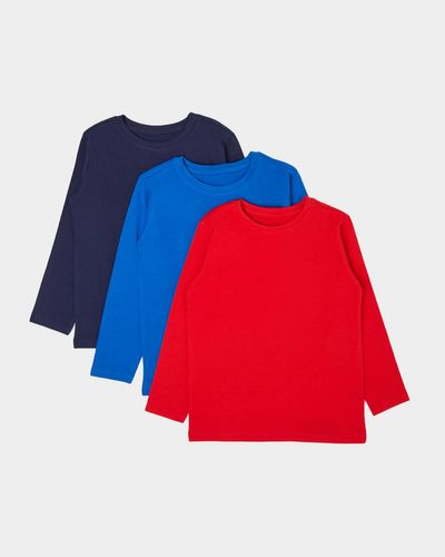 Boys Long-Sleeved Tops - Pack Of 3 (2-11 years)
