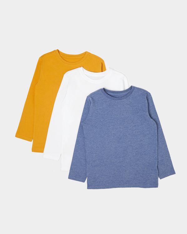 Boys Long-Sleeved Tops - Pack Of 3 (2-11 years)