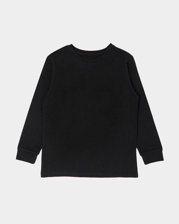 Boys Plain Long Sleeve Top (2-14 years)