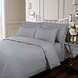 grey Francis Brennan the Collection Grey Double Stripe Duvet Cover