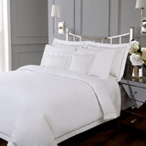 white Francis Brennan the Collection Pintuck Lattice Duvet Cover