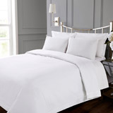 white Francis Brennan the Collection White Duvet Cover