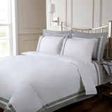 white Francis Brennan the Collection Contrast Duvet Cover