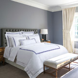 navy Francis Brennan the Collection Navy Double Stripe Duvet Cover