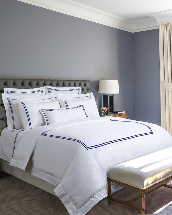 Francis Brennan the Collection Navy Double Stripe Duvet Cover