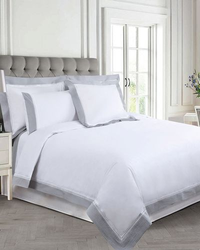 Francis Brennan the Collection Contrast Pintuck Lattice Duvet Cover