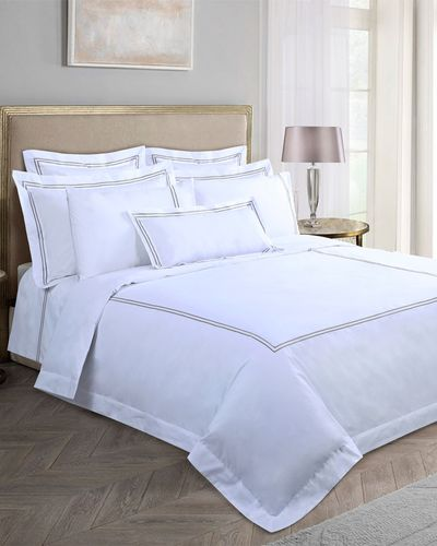 Francis Brennan the Collection Mink Double Stripe Duvet Cover