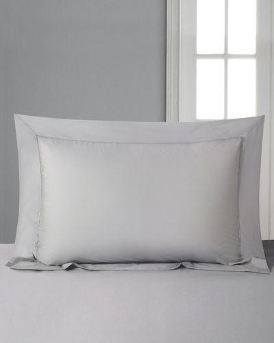 Francis Brennan the Collection Grey Oxford Pillowcase thumbnail