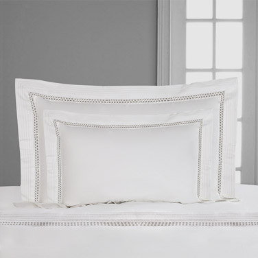 Francis Brennan the Collection Pintuck Lattice King Oxford Pillowcase