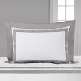 white Francis Brennan the Collection Contrast Oxford Pillowcase