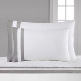 white Francis Brennan the Collection Contrast King Housewife Pillowcase