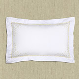gold Francis Brennan the Collection Filigree Oxford Pillowcase