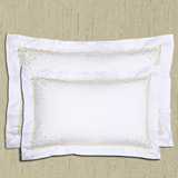 gold Francis Brennan the Collection Filigree King Oxford Pillowcase