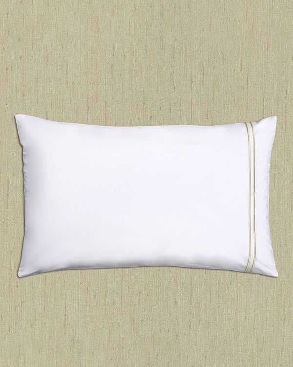 Francis Brennan the Collection Gold Double Stripe Housewife Pillowcase