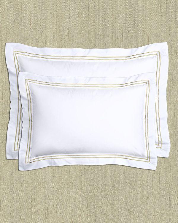 Francis Brennan the Collection Gold Stripe King Pillowcase