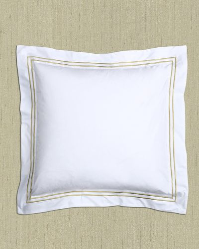 Francis Brennan the Collection Gold Stripe Euro Pillowcase thumbnail