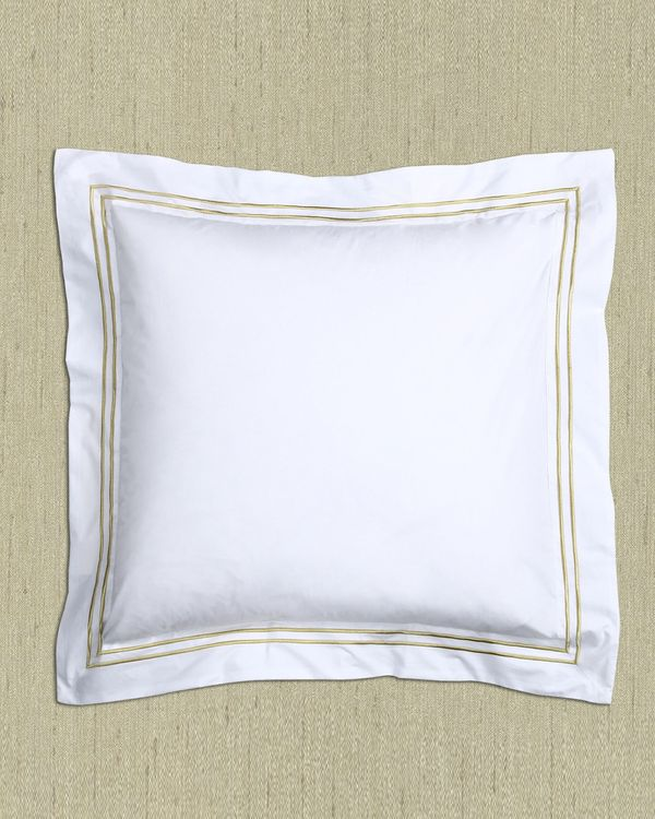 Francis Brennan the Collection Gold Stripe Euro Pillowcase
