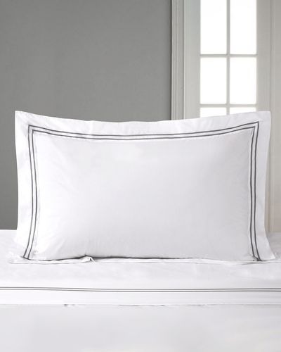 Francis Brennan the Collection Double Stripe Oxford Pillowcase