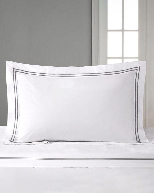 Francis Brennan the Collection King Double Stripe Oxford Pillowcase